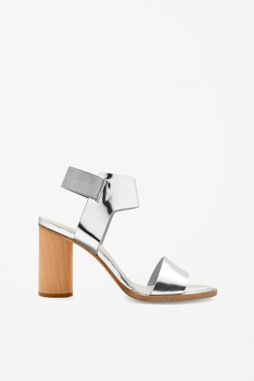 COS - Sandales argentée vernis