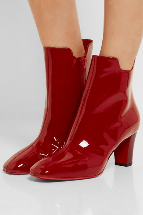 Christian Louboutin - Boots vernis rouge