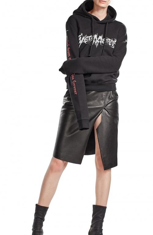 Vêtement - Jupe fendue en cuir noir