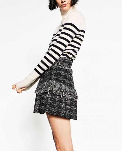 Zara mini jupe tweed