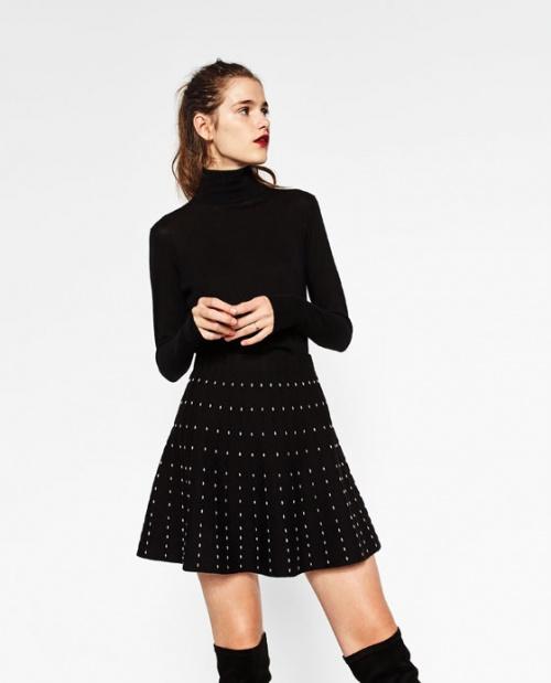 Zara mini jupe à pois