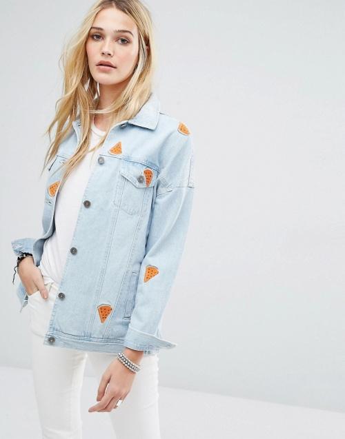 Noisy May  veste jean motif pastèque