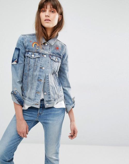 Levi's  veste jean avec écussons
