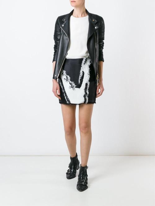 Versace  mini jupe franges