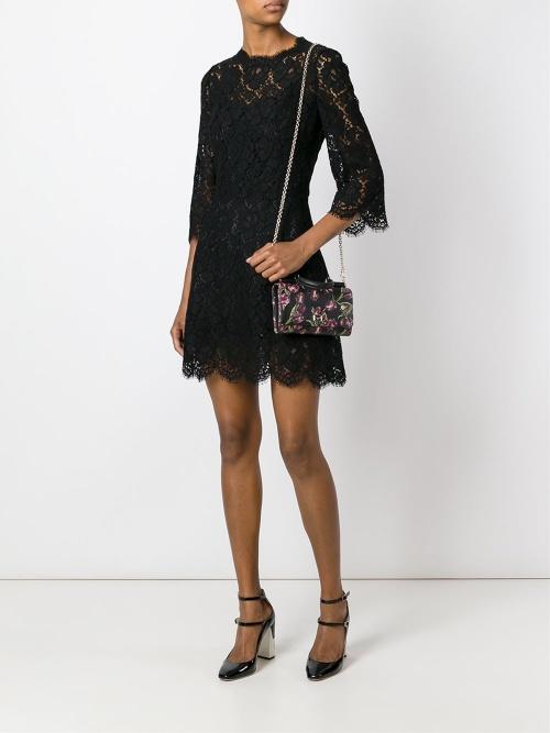 Dolce & Gabbana robe noire dentelle