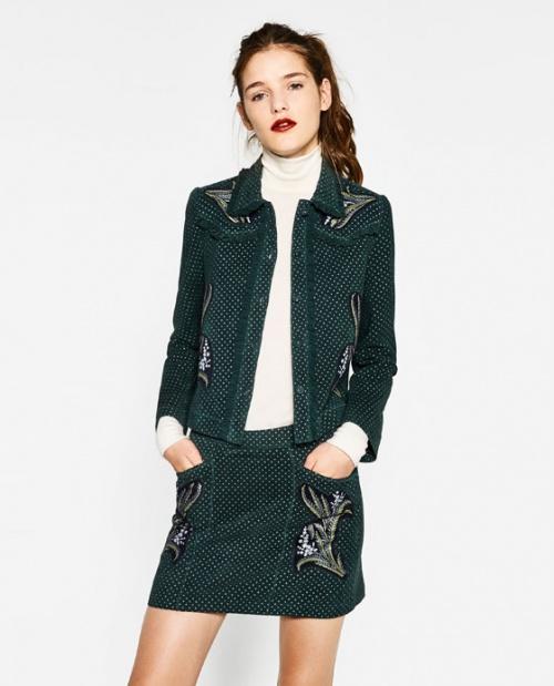 Zara mini jupe imprimé fleurs