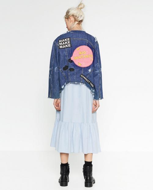 Zara veste écussons dos bulle