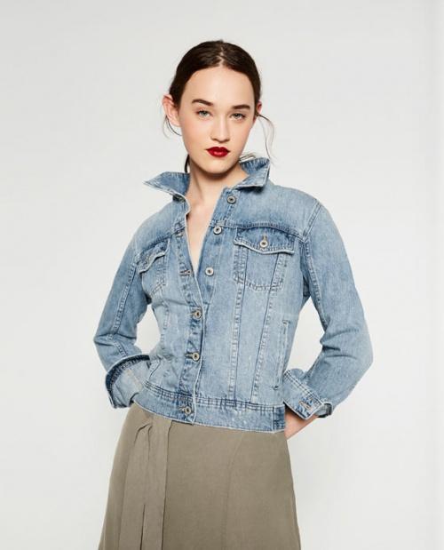 Zara veste jean basique