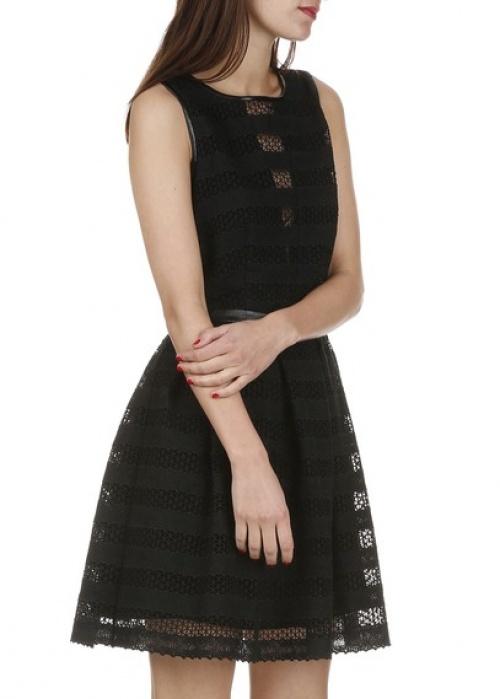 Suncoo  robe noire ajourée