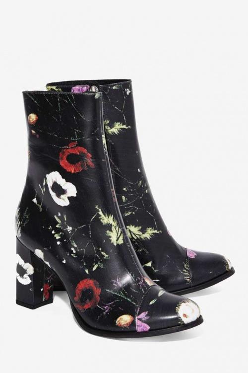Nasty Gal - Boots fleur imprimées