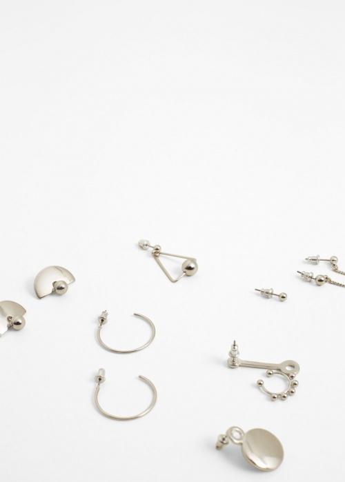 Mango bijoux d'oreilles argentés