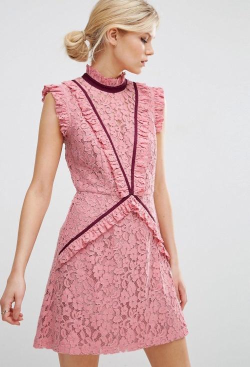 Asos robe rose dentelle