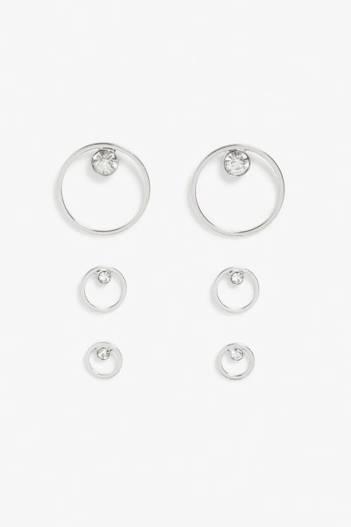 Monki  boucles d'oreilles argent diamants