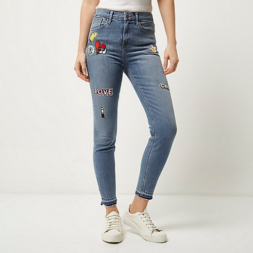 River Island jean patchs