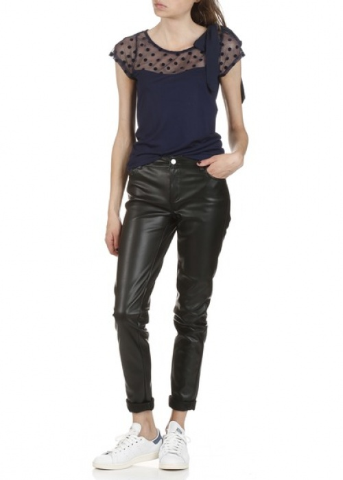 Best Mountain pantalon cuir slim