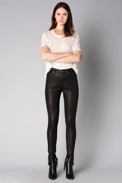 Iro pantalon cuir noir