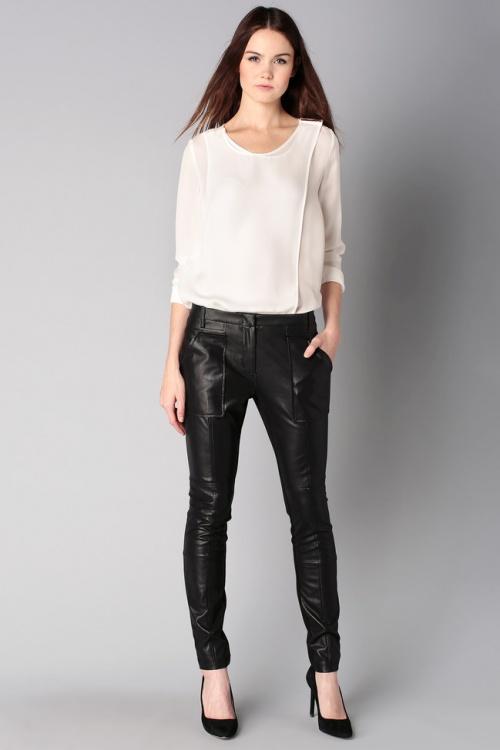 BCBG MaxAzria pantalon cuir