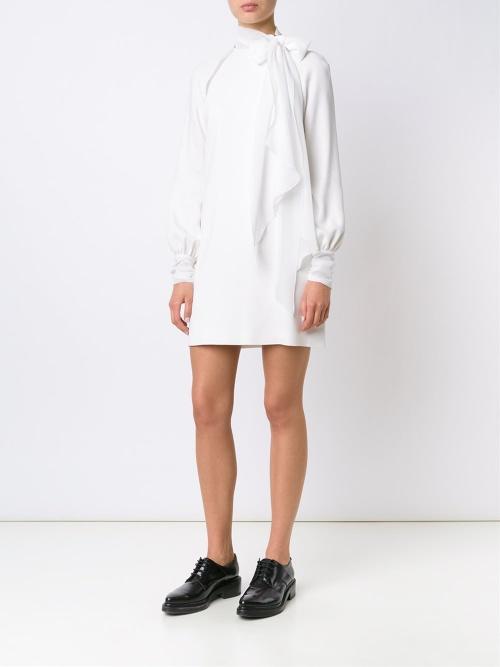 Emanuel Ungaro - Robe blanche col lavallière
