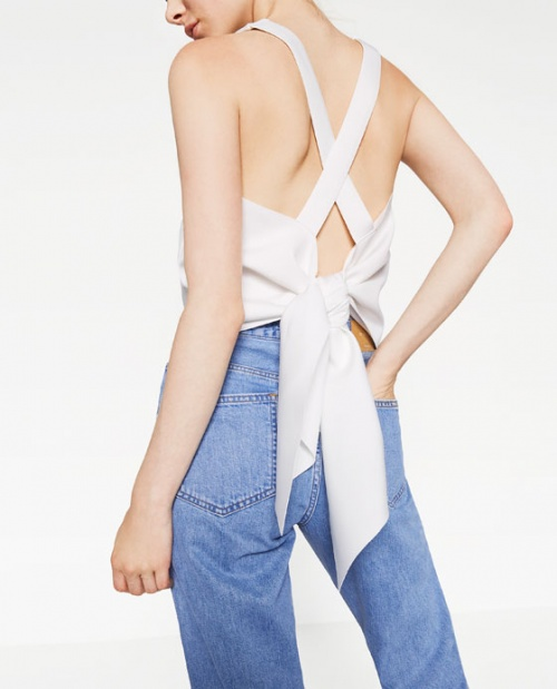 Zara - Top dans le dos