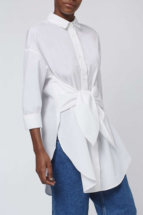 Topshop - chemise blanche noeud