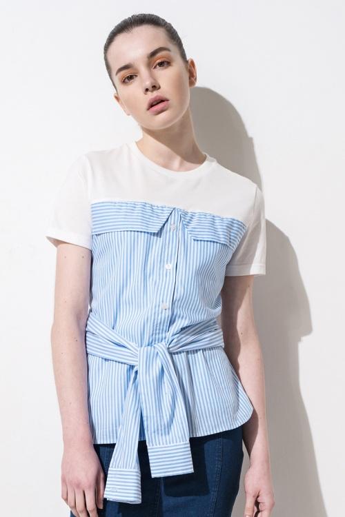 Front Row Shop - Top chemise à nouer