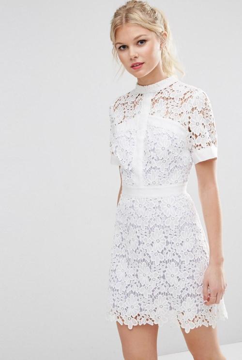 Asos robe blanche dentelle