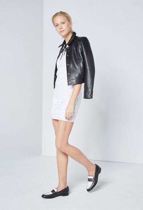 Claudie Pierlot robe dentelle blanche