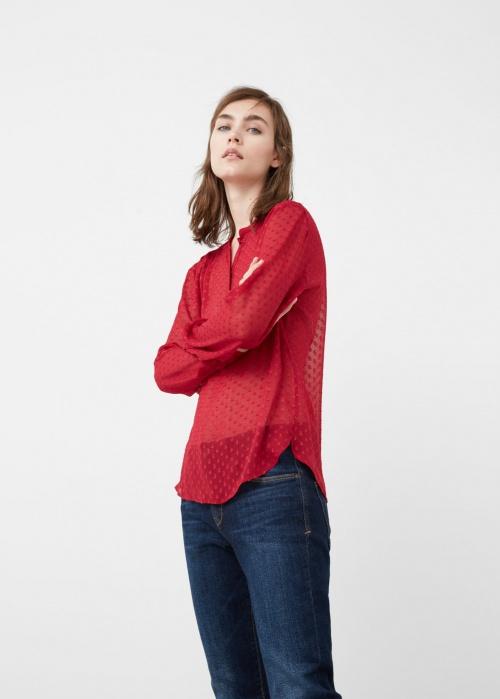 Mango top chemise plumetis