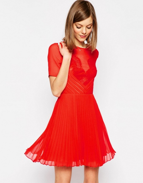 Asos  robe rouge fluide