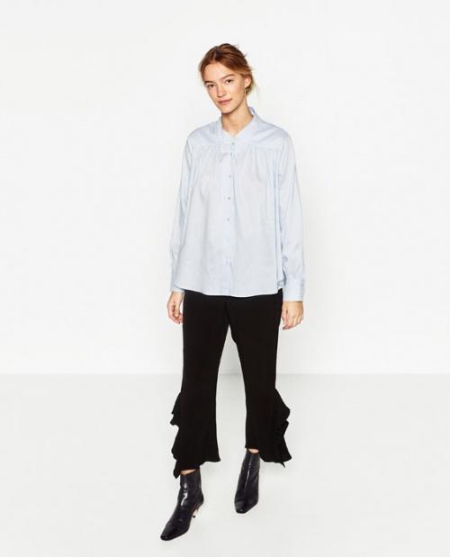 Zara pantalon volanté