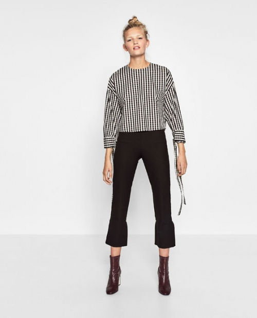 Zara pantalon ourlet cloche