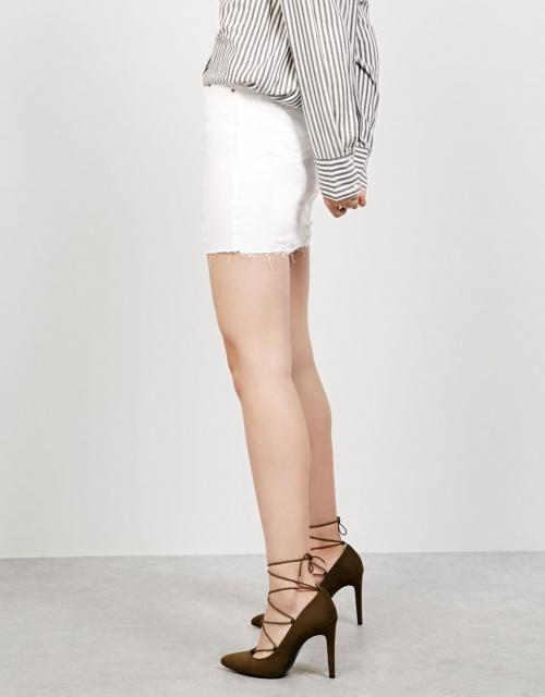 Bershka escarpins kaki lacets
