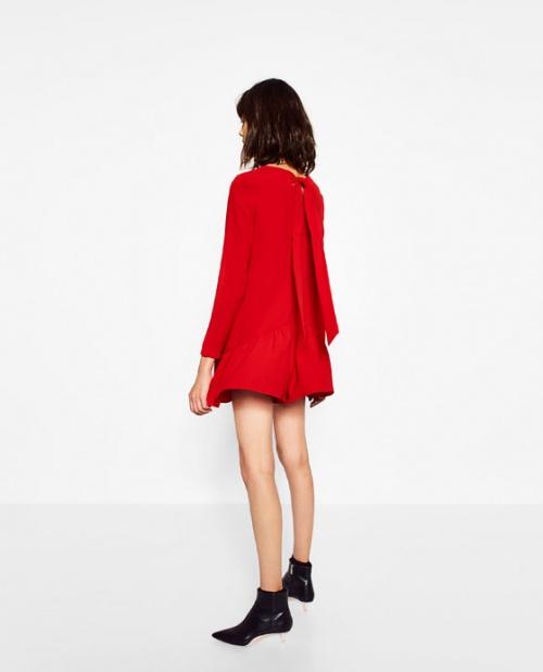 Zara  combishort dos noeud rouge