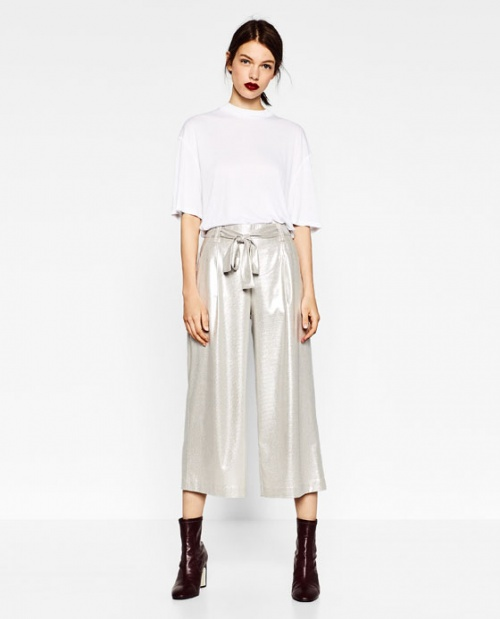 Zara-pantalon court