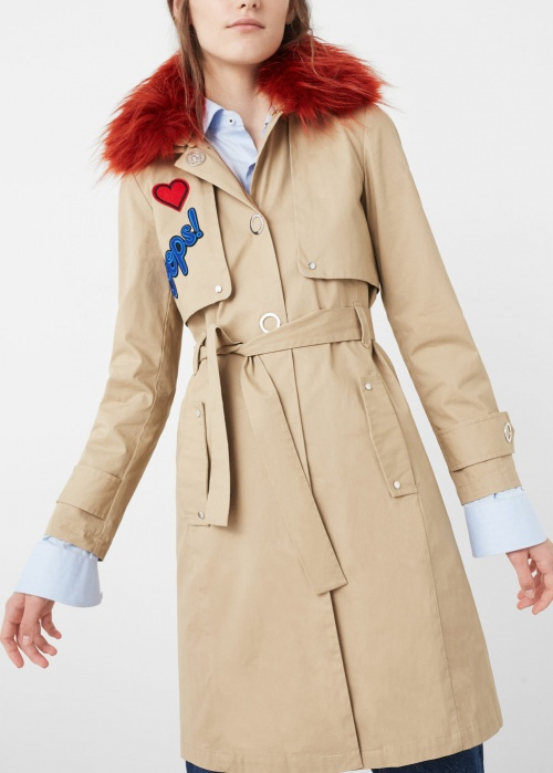 Mango-trench coat fourrure
