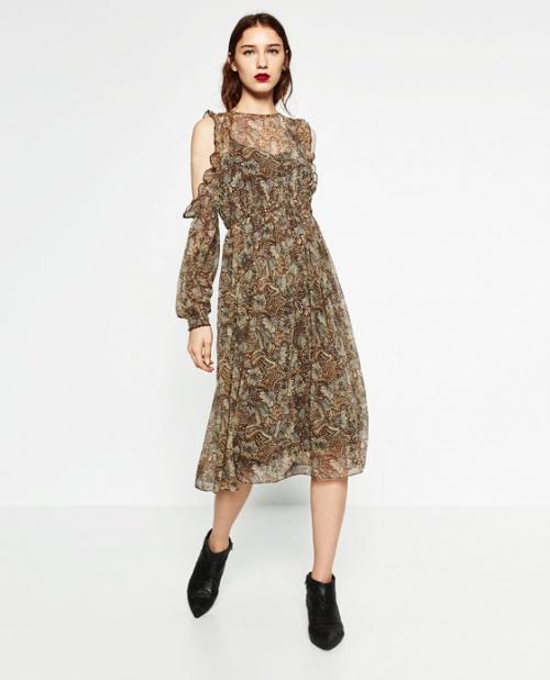 Zara-Robe épaule dénudées