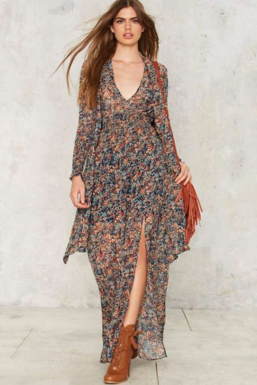 Nasty Gal-Robe casual fleurie