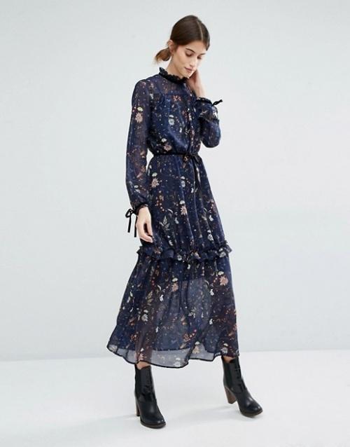 Vero Moda-Robe col plissé