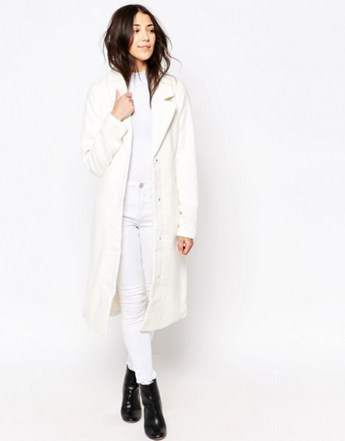Ichi manteau long blanc