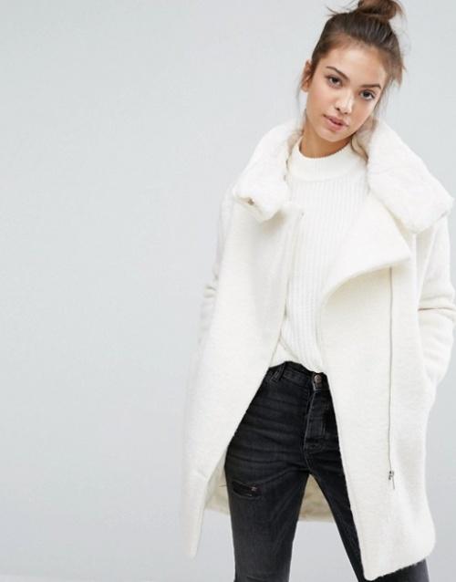 Pull&Bear manteau shearling
