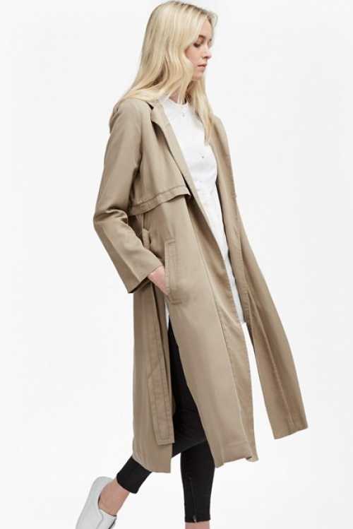 French Connection manteau long beige