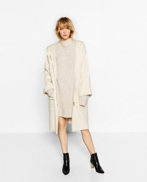 Zara manteau écru