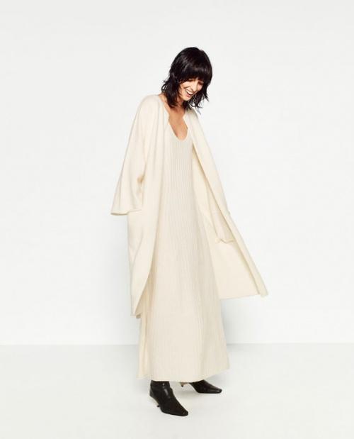 Zara manteau beige cachemire