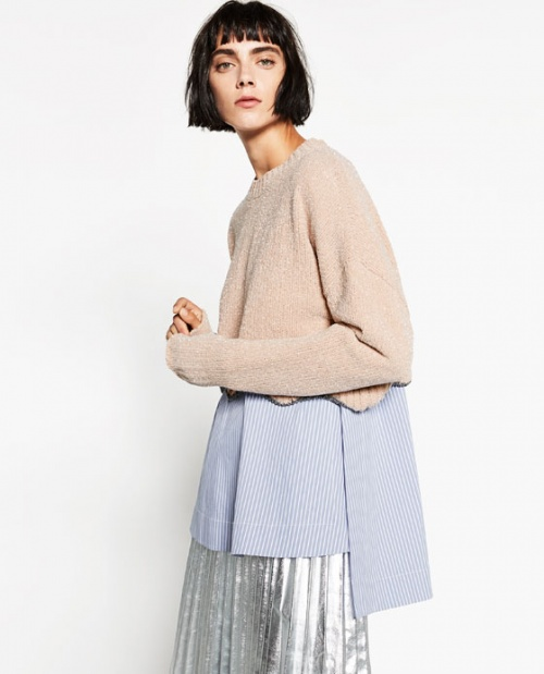 Zara - Pull court brillant