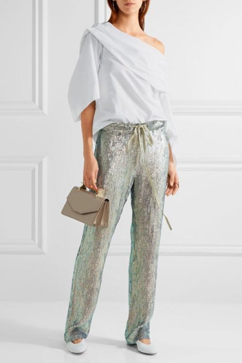 Rosie Assoulin - Pantalon brillant