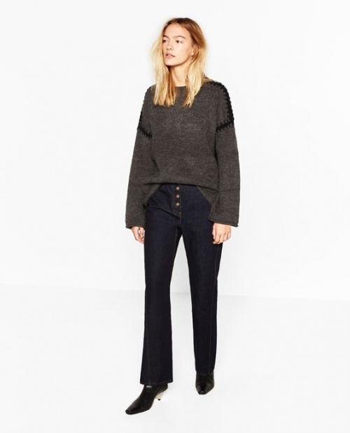 Zara - Pull couture noir