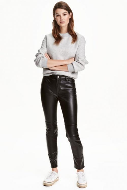 H&M- Pantalon simili cuir