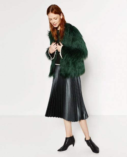 Zara - Jupe plissée noir