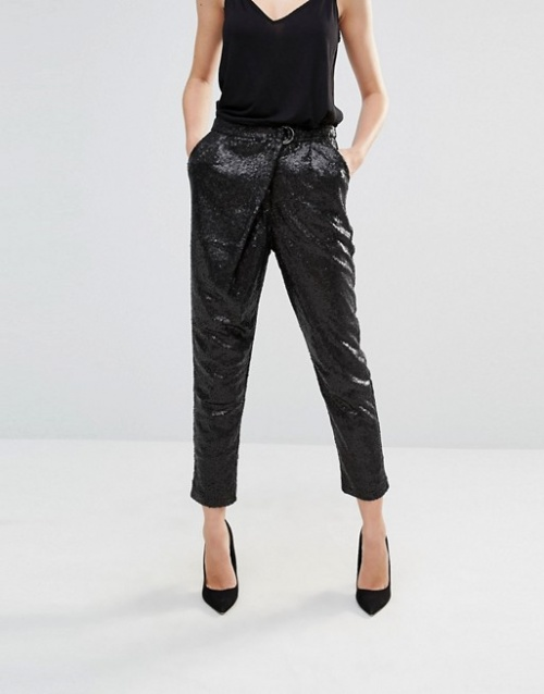 Lavish Alice - Pantalon portefeuille noir