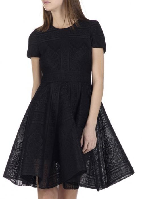 Maje robe dentelle noire